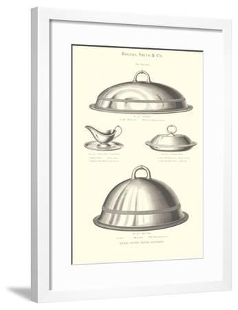 Silver Serving Accessories--Framed Art Print
