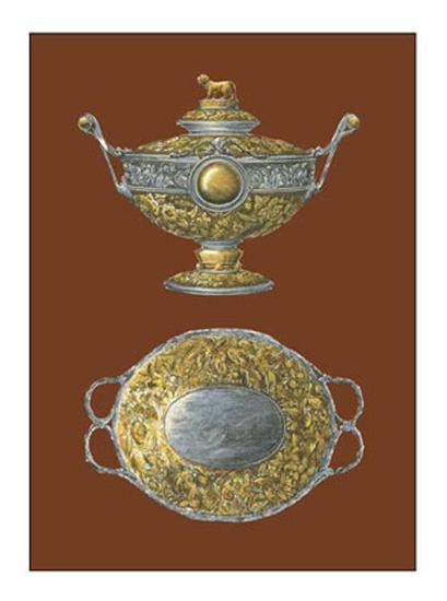 Silver Serving Pieces I--Art Print