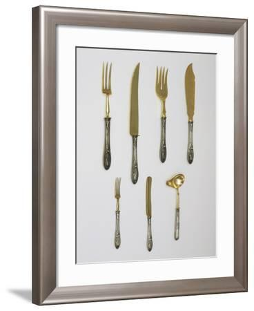 Silver Set of Fruit Cutlery and Kitchen Utensils, 1912-14--Framed Giclee Print