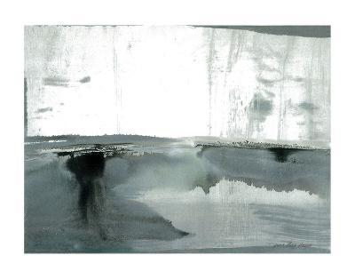 Silver Silence: Watercolor and Mist-Joan Davis-Art Print