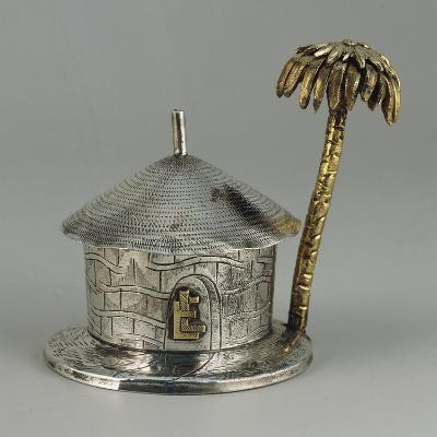 Silver, Similar Gold, Hut Shaped Bombonniere with Palm--Giclee Print