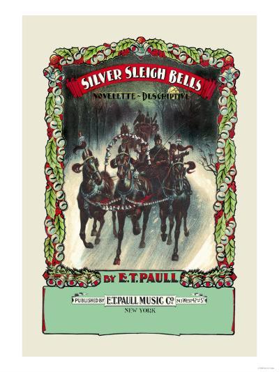 Silver Sleigh Bells--Art Print