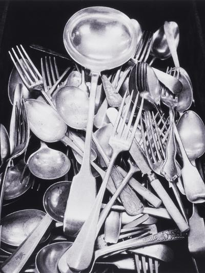 Silver Spoons and Forks-Graeme Harris-Photographic Print