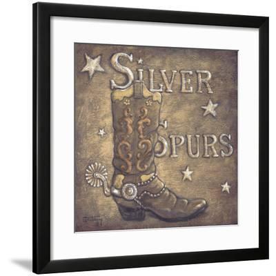 Silver Spurs-Janet Kruskamp-Framed Art Print