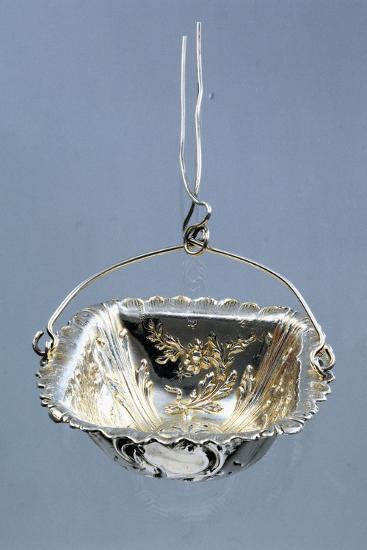 Silver Strainer with Embossed Decorations and Hanger, Minerva Hallmark, France, Late 19th Century--Giclee Print