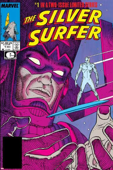 Silver Surfer By Stan Lee and Moebius No. 1: Silver Surfer, Galactus--Art Print