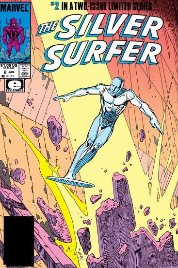 Silver Surfer By Stan Lee and Moebius No. 1: Silver Surfer--Art Print