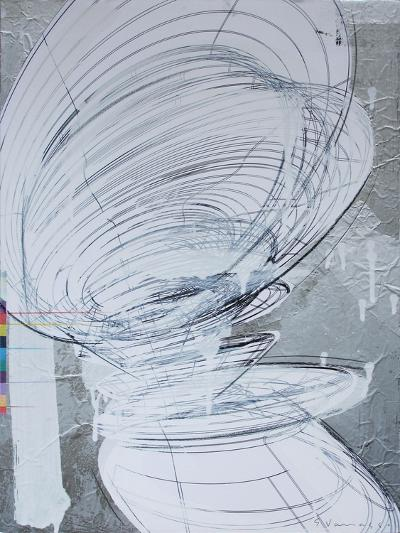 Silver Swirl 4-Enrico Varrasso-Art Print