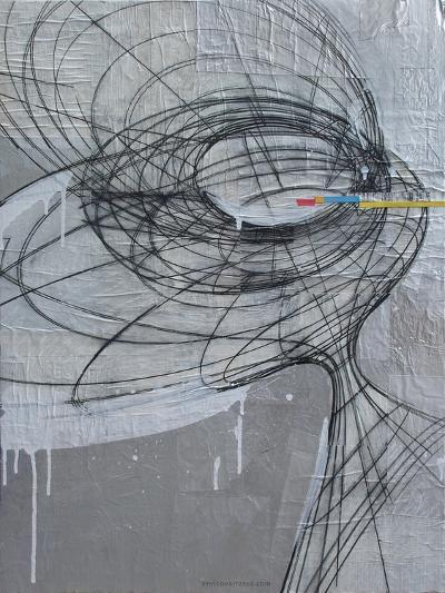 Silver Swirls 1-Enrico Varrasso-Art Print