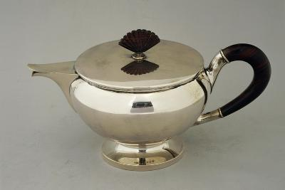 Silver Teapot, Design by Argenteria Fratelli Alignani, Approximately 1935--Giclee Print