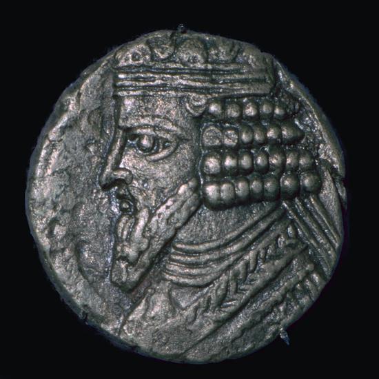 Silver tetradrachm of King Gotarzes II of Parthia (ruled 41 to 51), 1st century. Artist: Unknown-Unknown-Giclee Print