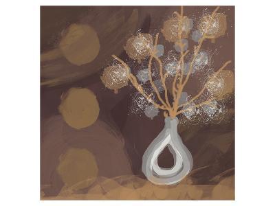 Silver Vase I-Irena Orlov-Art Print