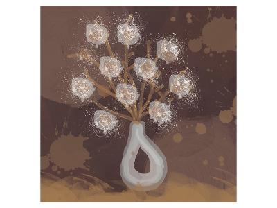 Silver Vase II-Irena Orlov-Art Print