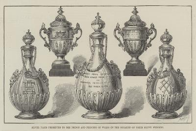 Silver Vases Presented to the Prince and Princess of Wales on the Occasion of their Silver Wedding--Giclee Print