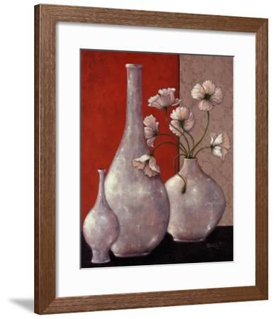 Silverleaf And Poppies I-Janet Kruskamp-Framed Art Print