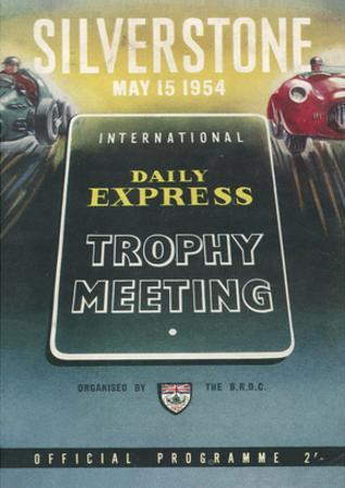 Trophy Meeting 15th May 1954 - Silverstone Vintage Print by Silverstone