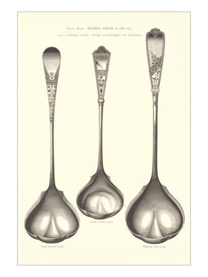 Silverware Patterns For Ladles Art Print By Art Delectable Silverware Patterns