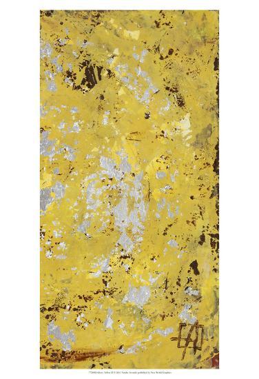 Silvery Yellow II-Natalie Avondet-Art Print
