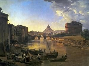 New Rome, Castel Sant'Angelo, 1823 by Silvester Shchedrin