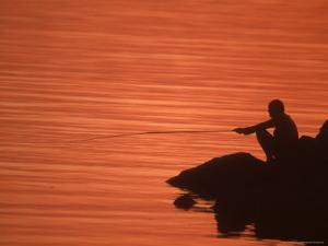 Fishing, Guanabara Bay, Brazil by Silvestre Machado
