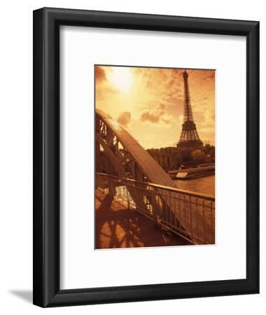 France, Paris, Eiffel and Passerelle
