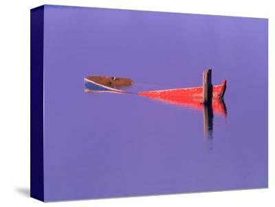 Red Boat in Water, Brasilia, Brazil