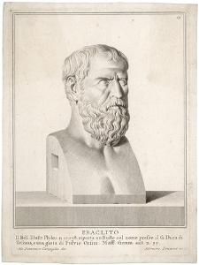 Heraclitus Greek Philosopher: Portrait Bust by Silvestro
