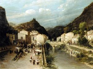 A Mountain Village, Italy by Silvestro Lega
