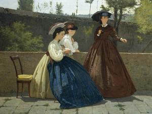 Almsgiving, 1864 by Silvestro Lega
