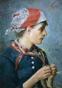 Braid Maker, 1887-88 by Silvestro Lega