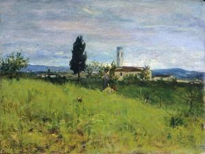 Church in Country by Silvestro Lega