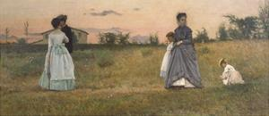 Fiances or Betrothed, 1869 by Silvestro Lega