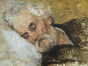 Giuseppe Mazzini Dying by Silvestro Lega