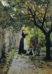 In Rose Garden by Silvestro Lega
