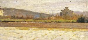 Landscape of Modigliana by Silvestro Lega