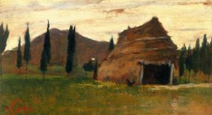 Landscape, Silvestro Lega, National Modern Art Gallery, Florence by Silvestro Lega