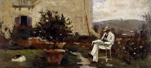 Luigi Tommasi in Garden, 1884 by Silvestro Lega