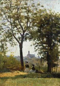 Monte Alle Croci (Hill of San Miniato), C. 1870 by Silvestro Lega