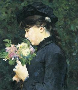 Portrait of Eleonora Tommasi by Silvestro Lega