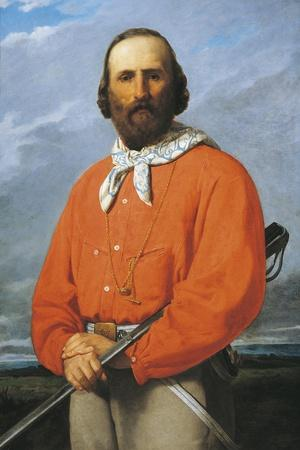 Portrait of Giuseppe Garibaldi, 1807 - 1882, Italian Military General, Patriot and Politician