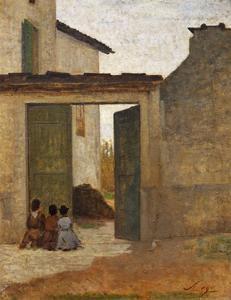 Viaticum, Circa 1864 by Silvestro Lega