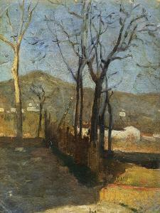 View with Trees, Country Study Triptych, 1861 by Silvestro Lega