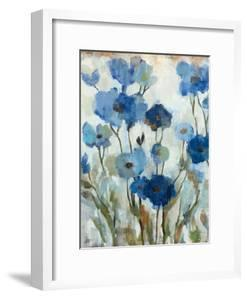 Abstracted Floral in Blue II by Silvia Vassileva
