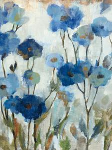 Abstracted Floral in Blue III by Silvia Vassileva