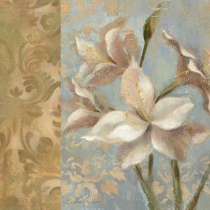 Amaryllis on Soft Blue by Silvia Vassileva