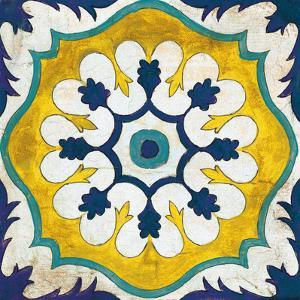 Andalucia Tiles C Blue and Yellow by Silvia Vassileva
