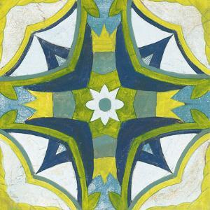 Andalucia Tiles E Blue and Yellow by Silvia Vassileva