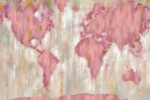 Blushing World Map v2 Crop by Silvia Vassileva