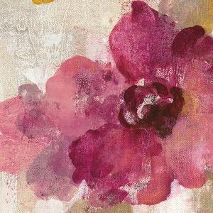Elegant Fresco Floral Gold Flower I by Silvia Vassileva