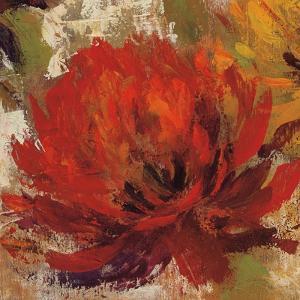 Fiery Dahlias II Crop by Silvia Vassileva